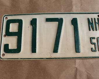 Vintage 1956 New Hampshire Boat License Plate