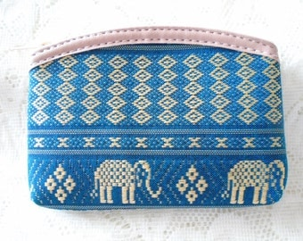 Royal Thai pattern purse, Silk coin purse, Change purse, Card wallet, Available in five colors