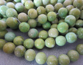 Lemon Chrysoprase Round 8mm Beads 50pcs