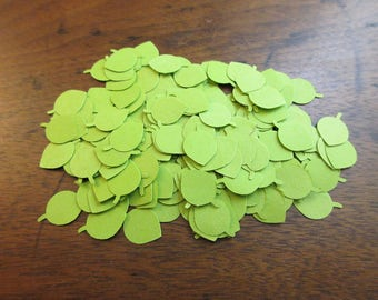 Miniature Green Leaves Hand Punched Die Cut from Vintage Envelopes (Lot 15)