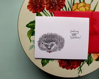 Hedgehog Valentine Set of Four (4)