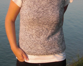 Knit vest Sweater vest Hand knit vest Sleeveless sweater Grey vest