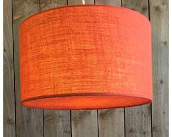 Orange Hessian Light Shade & Hessian Diffuser 25cm 30cm 35cm 40cm 45cm 50cm 60cm 70cm FREE UK SHIPPING