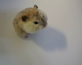 needle felted hamster, needle felting hamster, animal lover gifts, decoration, soft sculpture, dwarf hamster, needle felting animal