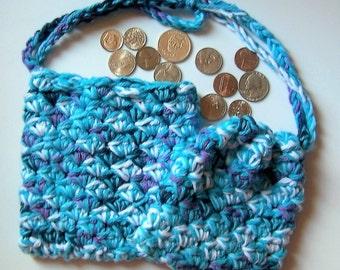 Coin Purse - Handmade Crochet makeup bag - Change purse - Coin bag - Small purse - small bag -