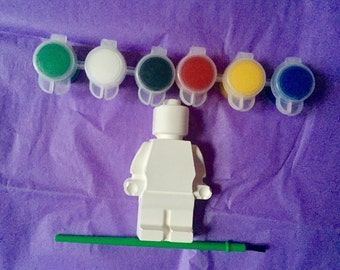 "Lego party favors. Lego party activity. 4"" tall . DIY.Lego gift. Lego birthday . Creative. Class,school. Complete party favors ."