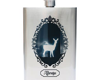 """Harry Potter Snape """"Always"""" Inspired Stainless Steel 8oz Flask"""