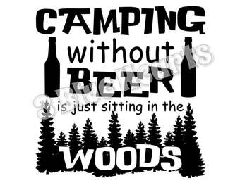 Camping Without Beer svg studio dxf pdf jpg
