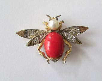 NETTIE ROSENSTEIN jelly Belly Vintage Bird Brooch