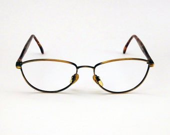FINAL CLEARANCE! - VINTAGE italian eyeglasses - vintage frames - made in italy - tortoise shell - medium size - vintage women's eyglasses