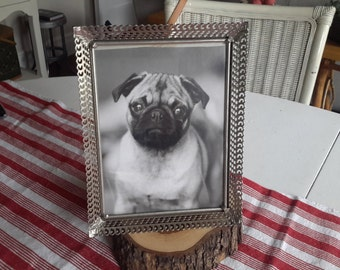 Picture Frame of Silver Color Fillagree Metal