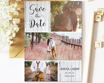 Save The Date Cards, Rustic, Postcard, Photo, Printed, Printable, Wedding Save The Date