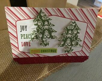 Homemade tree Christmas card