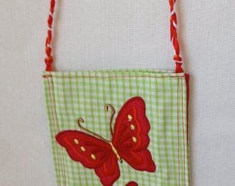 Girls Red Butterfly Bag