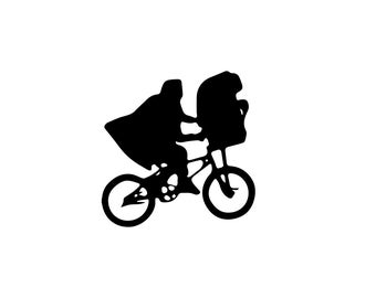 E.T. Decal - Wall Decal / ET Print / 80s Decal / 80s Decor / ET Vinyl Decal