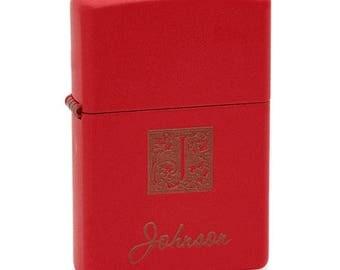 Lighter Monogrammed Red Matte Zippo Lighter FREE SHIPPING 233Mono