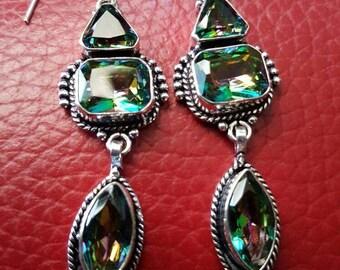 Mystic Fire Topaz Earrings!