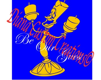 Disney Lumiere SVG Beauty And The Beast Be Our Guest