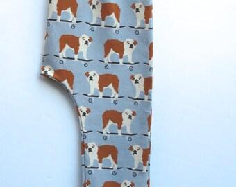 English bulldog baby harem pants, english bulldog dog baby pants, trendy baby clothes, trendy toddler clothes, skateboard baby pants