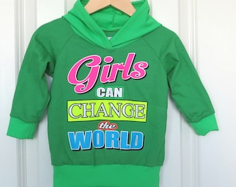 kids quote hoodie/ recycled sweater