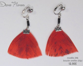 feathers earrings
