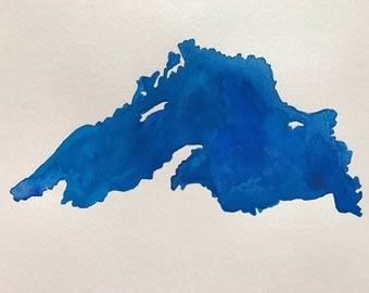 Lake Superior Original Watercolor Painting--9x12
