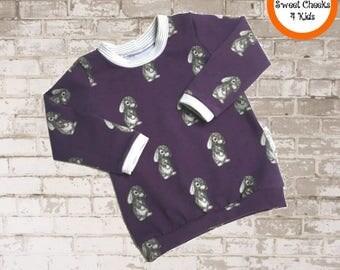 Purple Baby Bunny Shirt, Baby Girl Shirt, Baby Boy Shirt, Kids Tee Shirt, Long Sleeves, Bunny Foo Foo, Kids Sweatshirt, Trendy Kids Clothes