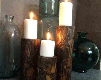 Solid Wood Candle Holder