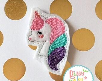 Unicorn feltie design unicron feltie unicorn Embroidery  ITH designith unicorn feltie design embroidery oversized unicorn feltie oversized