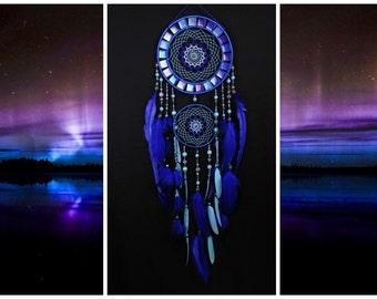 Dreamcatcher Blue mosaic Dream Catcher Large Dreamcatcher New Dream сatcher gift idea dreamcatcher boho dreamcatcher wall handmade gift blue
