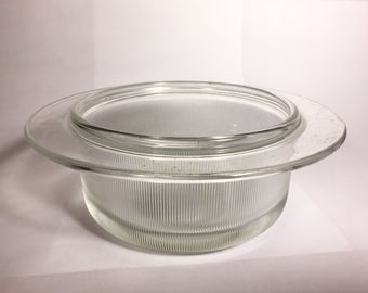Massimo Vignelli for Heller Glass Oven and Microwave Bowl