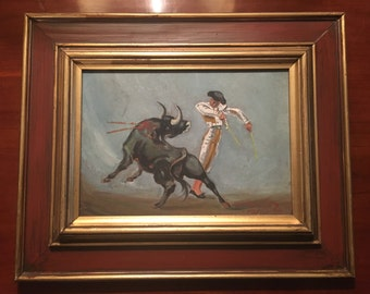Matador bullfight painting