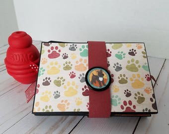 Handmade twist and fold scrapbook mini album
