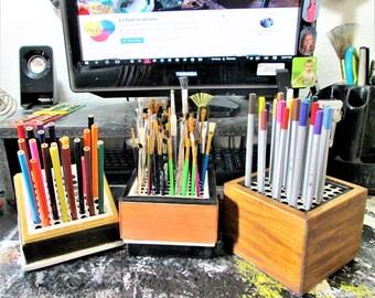 Paint brush holder, color pencil holder, small tool holder, multi purpose holder