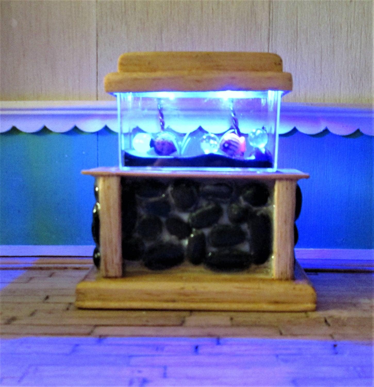 1 12 dollhouse stone base aquarium miniature aqaurium for Toy fish tank