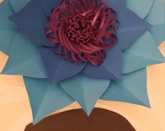 Paper Flower Template PDF file #7