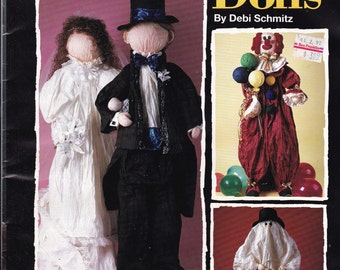 Vintage Craft Book - Great Big Beautiful Dolls made From Paper Capers 11 Different Dolls