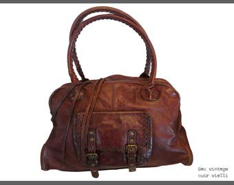 Vintage handbag beautiful leather