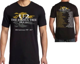 U2 The Joshua Tree 30th Anniversary 2017 World Tour T Shirt Top Men