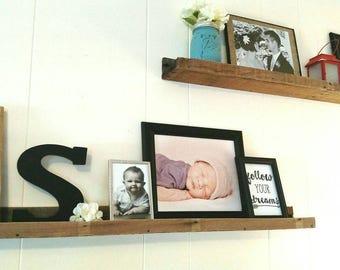 Large Reclaimed Pallet Shelves (set of 2), Decorative Shelves, Shelf Ledge