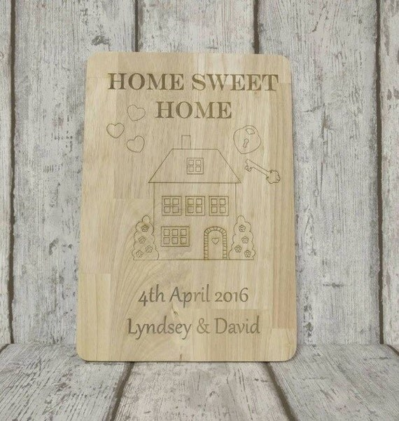 Home sweet home - new home plaque - chopping board or kitchen décor
