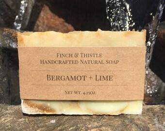 Bergamont + Lime Soap, Natural Soap, Vegan Soap, Palm Free Soap, Handmade Soap, Cold Process Soap