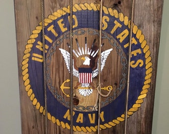 Hand painted United States Navy Artwork