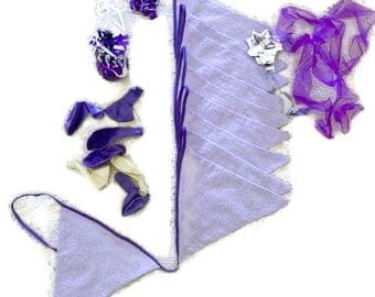 Purple Baby Bunting, Purple Garland, Baby Shower, Nursery Bunting