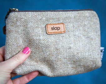 Slap make up bag - Cosmetics bag - Toiletry bag -  Makeup Pouch - Travel Cosmetic Bag - Gift for her
