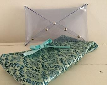 Clear clutch bag, transparent purse, small clear handbag, envelope clutch