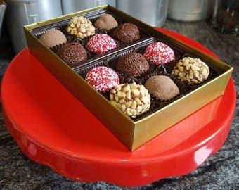 12 Chocolate Bon Bons in a Gift Box (Brigadeiro)