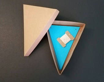 """Banner Pennant Kit - DIY - 4.5""""x6"""" Pennants - Cotton Twine - Color Choices - Blue, Red, Pink, Yellow, Green, Orange"""