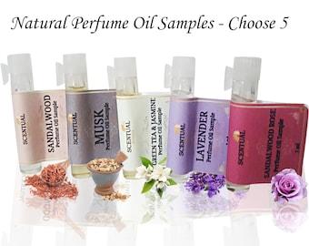 ORGANIC PERFUME SAMPLES, Pick Your Own Perfume Samples, Vegan Perfume Samples, Perfume Sample Set