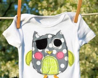 Baby boy/girl pirate owl onesie sewing pattern